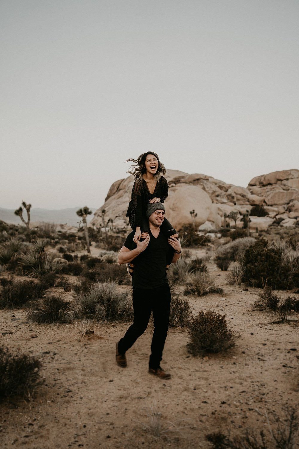 Sunrise Joshua Tree National Park Engagement Photos