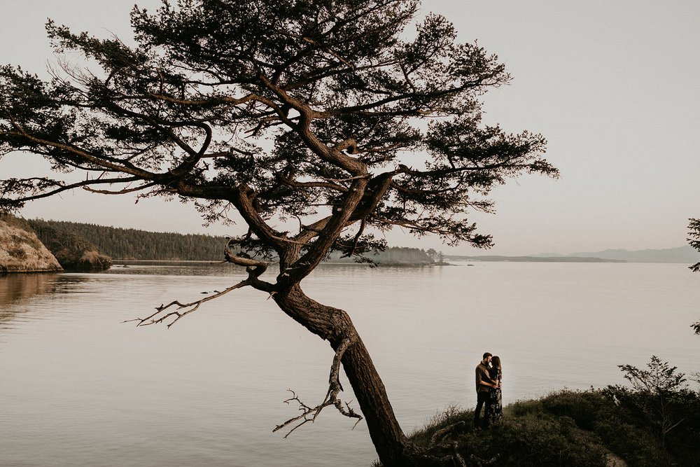 Deception Pass Engagement Photo