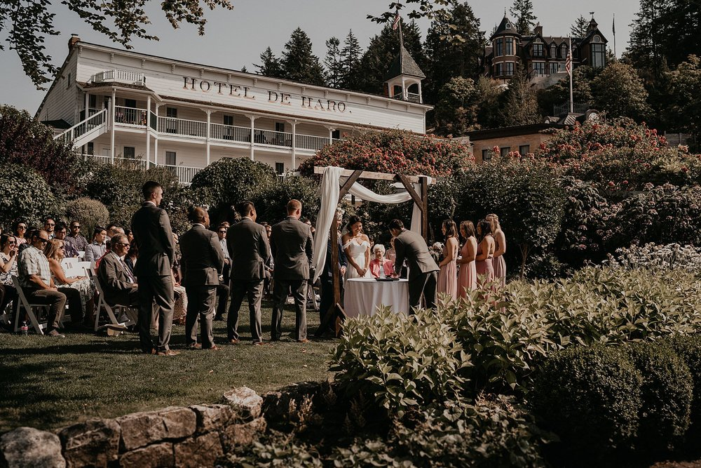 San San Kudo tea ceremony wedding at Roche Harbor resort on San Juan islands