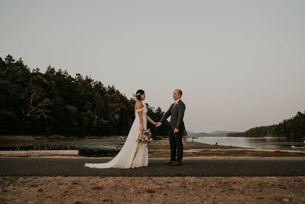 Roche Harbor beach wedding on San Juan Islands