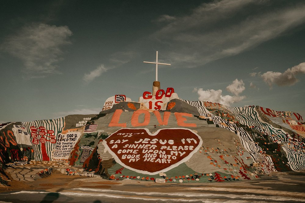 Salvation Mountain near slab city in Southern California