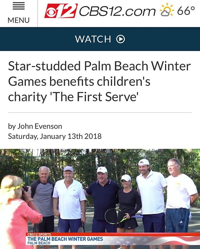 Thanks @wpeccbs12 for checking out the Pro-Am tennis tournament yesterday! http://cbs12.com/sports/content/star-studded-palm-beach-winter-games-benefits-childrens-charity-the-first-serve