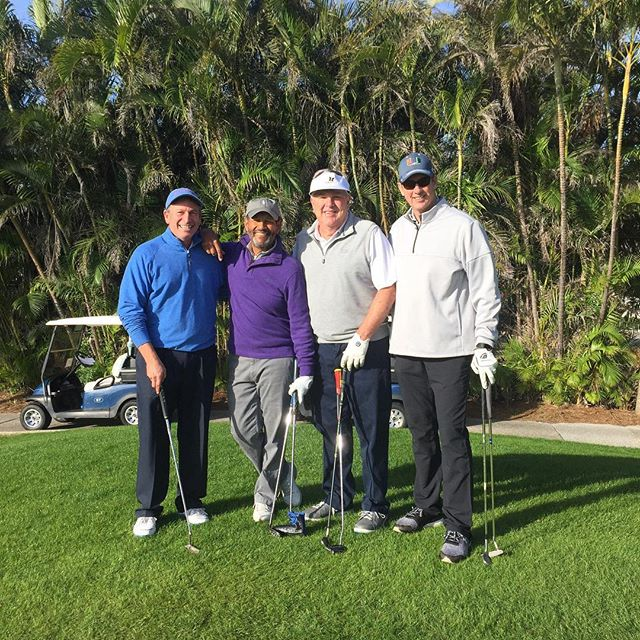 Last day of the Palm Beach Winter Games! Out on the @thebreakers Ocean Course with Bryant Gumbel for our Sports Celebrity Golf Tournament #wearefirstserve #golftournament
