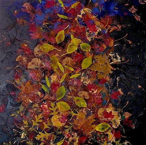 """Autumn Stillness <br>36""""x36"""" Acrylic on Canvas"""