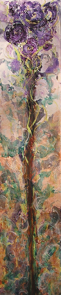 """Mystic's Gift <br> 40""""x10"""" Acrylic on Canvas<br>"""