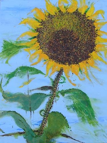 "Scott's Sunflower #2 <br> 18""x24"" Acrylic on Canvas"