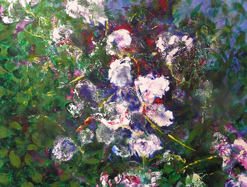 """Summer's Quiet Shade <br> 30""""x36"""" Acrylic on Canvas <br>SOLD"""