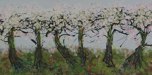 "Vancouver Spring: Kitsilano <br> 12""x24"" Acrylic on Canvas"