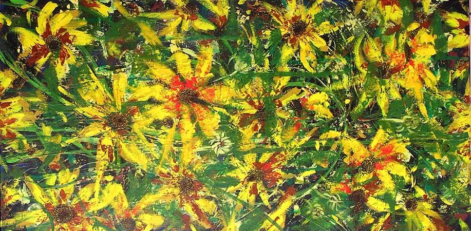 """Vanier Park <br> 24""""x48"""" Acrylic on Canvas"""