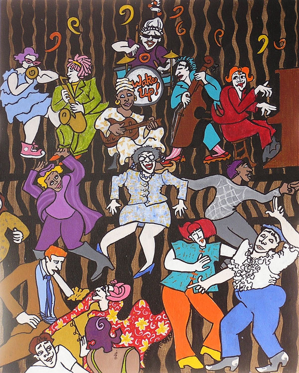 "Jazz Babies <br>20""x16"" Acrylic on Canvas"