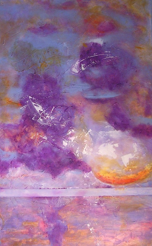 "Spanish Banks: Sunset <br> 40""x30"" Acrylic on Canvas"
