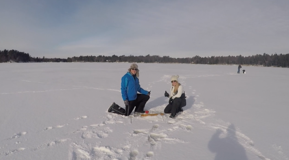 Ice Fishing in Little St. Germain