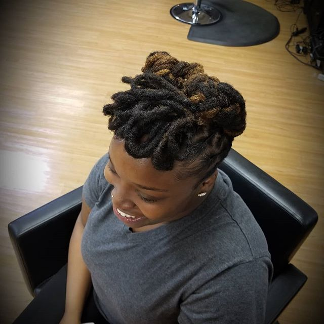 Another slay for today.....with a #smile.404-254-9719 to book your next #soul4u #experience!  #naturalhairstyles #naturalbeauties #womenlocstyles #womenwithlocs #blackgirlmagic #blackexcellence #locs #dreadlocks #dreadstyles #atlantalocs #atlantastylist #atlantahair #mcdonough #mcdonoughhair #mcdonoughlocs #instantlocs #locupdos #stylistchronicles