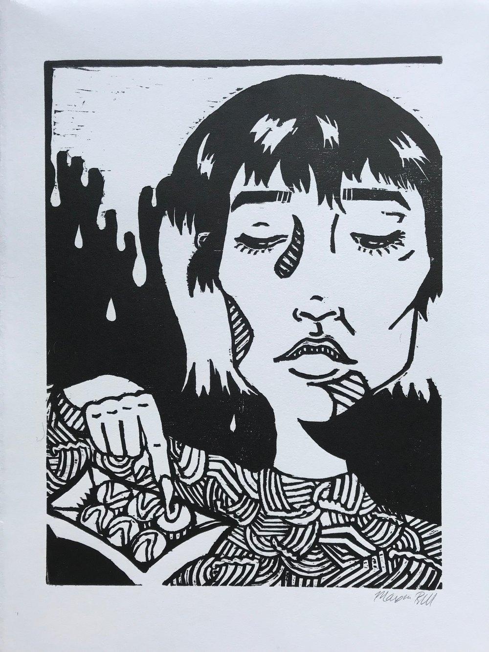 たこ焼きGirl (white paper, 2017)