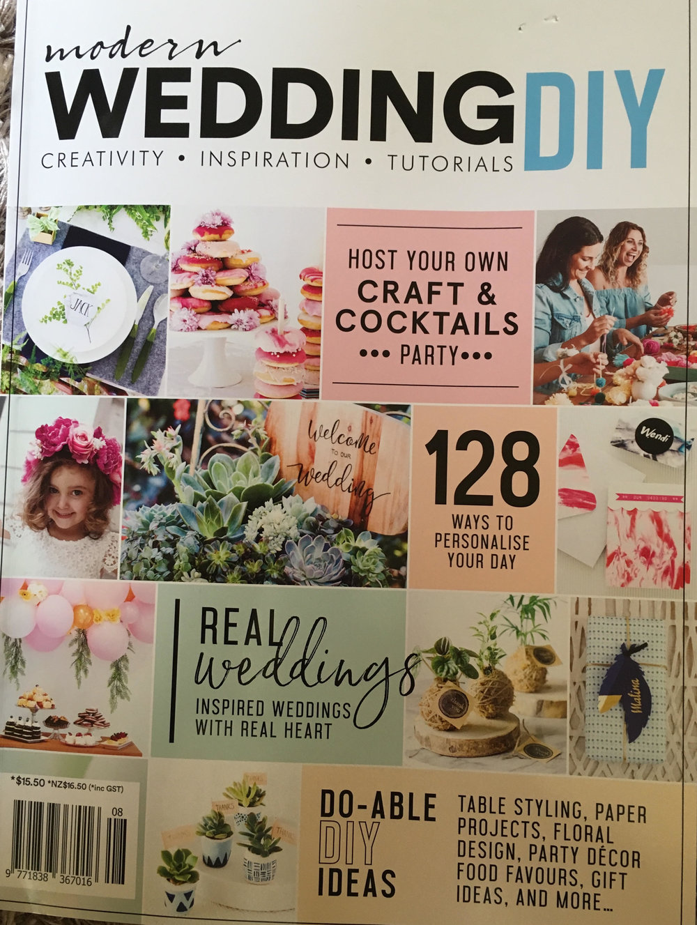Modern Wedding Magazine - LAFD floral styling featured in a 10 page spread in the latest issue of Modern Wedding DIY. Collaboration with Going to Gracelands at their stunning venue in Forresters beach.