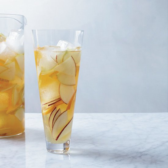 Hard Cider Sangria -  Instead of wine, this juicy sangria is made with hard cider spiked with lemon juice and apple brandy.