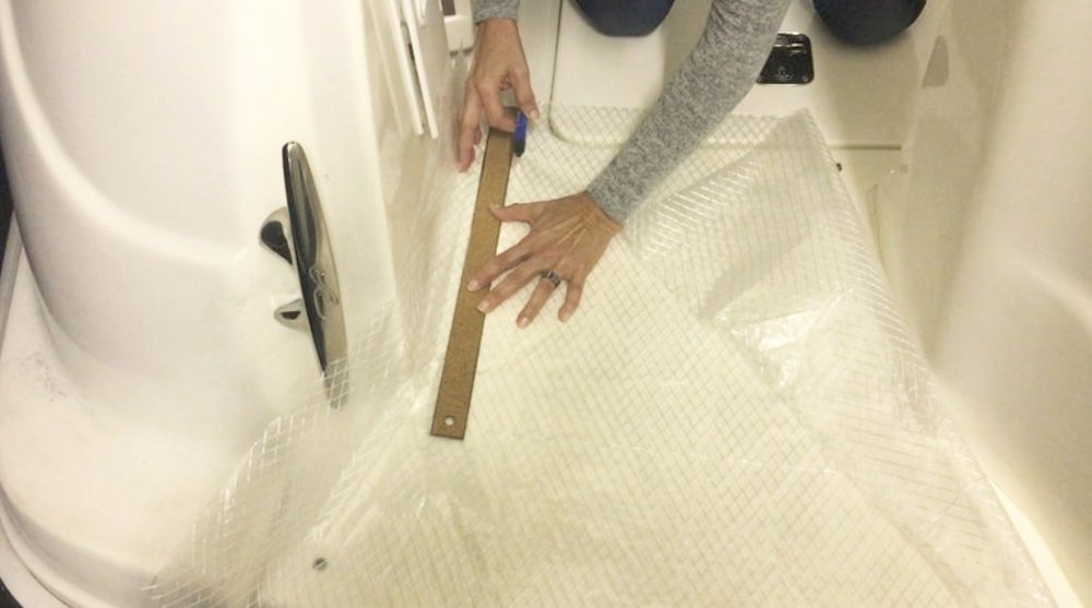 making templates on your boat cockpit woven carpets