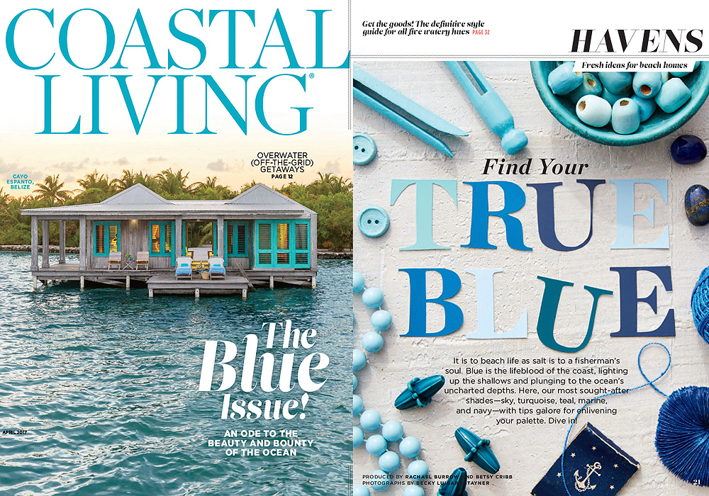 ARCHITECTURE DIGEST  Find your True Blue  April 2017