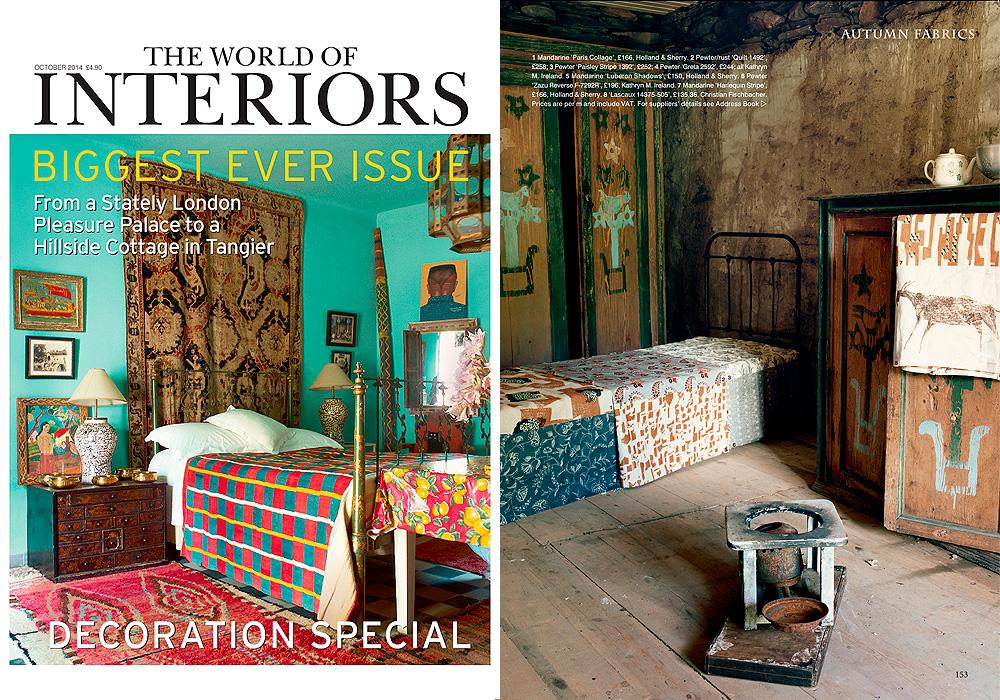 THE WORLD OF INTERIORS  Autumn Fabrics  October 2014