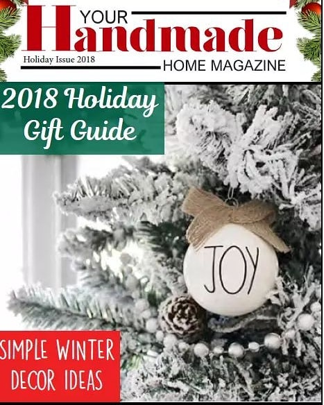 It's here!! Our HUGE Holiday Gift Guide issue and Christmas inspo from @acleanprismlife @featherbrained_fancy  and @houseonwinchester ! Link in bio, click in the mag cover and enjoy! . . . . . #yourhandmadehome #holidaygiftguide #handmadeholiday #christmasinspo #farmhousedecor #farmhousechristmas #farmhousestyling #modernfarmhousestyle #christmasdecor #giftsforboyfriend  #giftsforhim #giftsformen #giftsforteens #giftsforpets #giftsforkids #giftsfordad #giftsformom #giftsforyou #giftsforwomen #allthegifts #artisanhandmade
