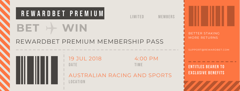Receive  Exclusive Access  to our RewardBet Premium Private Group - with additional benefits such as late mail specials, our personal black-bookers, and much more to turbo-charge your betting experience, valued at $87 per year ( but priceless in our opinion  - all the connected people you have access to... )