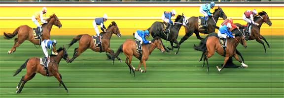 🏆🏆🏆🏆🏆🏆🏆 Moonee Valley Race 7 No.8 Cliffs Edge @ $3.30 (2.18 UNITS WIN)   Result :  1st  at SP $2.80, Best Tote $2.90, Betfair at $2.90. Good market support. On the home turn, peeled out from behind the leader, once level brushed with the leader and head was to the side. Jockey straightened him up and from there was too strong to the line. Outcome +7.19 Units.