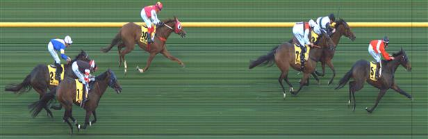 Moonee Valley Race 1 No.10 Lope De Field @ $7 (0.84 UNIT WIN) (watch price)  Result: 4th at SP $7.50. On the turn took the rails and for a stride or two looked a winning hope just couldn't finish off. Outcome -0.84 Units.