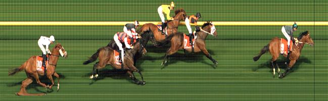 🏆🏆🏆🏆🏆🏆🏆 Moonee Valley Race 8 No.9 Daguilar @ $3.50 (2 UNITS WIN)   Result: 1st  at SP $3.20, Best Tote $3.40, Betfair $3.50. Came from the back, widest on turn and shot away from the 200m mark to win well. Still a bit to learn, at times in the straight was racing with its head to the side. Outcome +7.00 Units.