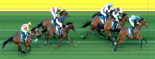 🏆🏆🏆🏆🏆  Moonee Valley Race 1 No.8 Beetobee @ $4.40 (1.48 UNITS WIN)   Result :  1st  at SP $5.50, Best Tote $4.90, Betfair $6.27. Settled towards the tail of the field. Race was on just prior to the turn and joined in four wide for uninterrupted run and kept finding to score on the line. Outcome +5.03 Units.