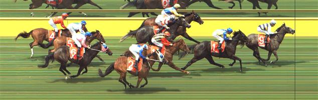 🏆🏆🏆🏆🏆🏆 Mornington Race 4 No.9 Greyazz @ $5.50 (1.12 UNITS WIN)   Result: 1st  at SP $6.00, Best Tote $6.10, Betfair $6.60. Decent run in transit. Hard ridden from the turn but found the gaps and burst through to score a length victory. Outcome +6.16 Units
