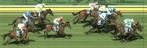 🏆🏆🏆🏆🏆🏆🏆 Sandown Race 2 No.9 Yulong September @ $4 (1.67 UNITS WIN)   Result :  1st  at SP $4.60, Best Tote and Betfair $4.70. Was still last with about 300m to go but got going late & came from the clouds to make it interesting on the line and won by a nose in a close photo finish. Outcome +6.68 Units