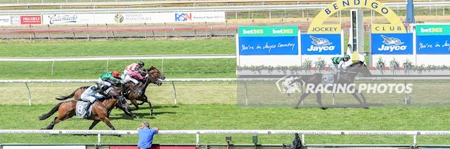 🏆🏆🏆 Bendigo Race 5 No.6 Casino Fourteen @ $2.30 (1.5 UNITS WIN)   Result :  1st  at SP $1.95, Best Tote $2.10, Betfair $2.07. Jockey looked very confident at the turn as he strode up to join the lead, released the breaks when straightening up and cruised away for an easy win. Outcome +3.45 Units