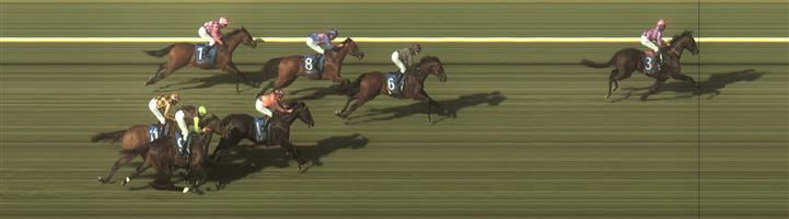 BENDIGO Race 8 No. 8 Ocean Essence @ $4.80 (1.32 UNITS WIN)   Result: 3rd  at SP $5.50. After sitting outside the leader, one off the rails, for the whole race, went up to the leader upon straightening but leader kicked and put in a winning margin while Ocean Essence could only hang on for 3rd. Outcome -1.32 Units