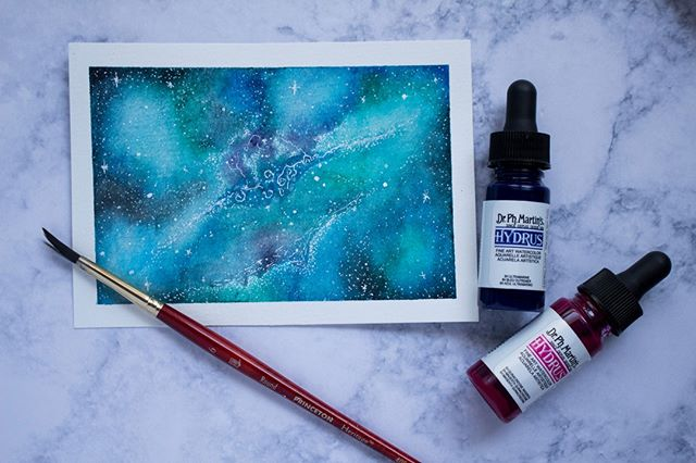 Sometimes I work on stuff that isn't wedding-related! These galaxy/nebula paintings are seriously SO CATHARTIC when I'm stressed out. I really want to start varying my projects so that my entire feed isn't wedding work, how would y'all feel about that? I like the cohesiveness of having all professionally shot bridal stuff, but I also want to share other fun projects that won't be shot by pros. Supplies used: @drphmartins hydrus drops, @princetonbrush size 6 round, and @fabriano cold press watercolor paper.⠀⠀⠀⠀⠀⠀⠀⠀⠀ •⠀⠀⠀⠀⠀⠀⠀⠀⠀ •⠀⠀⠀⠀⠀⠀⠀⠀⠀ •⠀⠀⠀⠀⠀⠀⠀⠀⠀ •⠀⠀⠀⠀⠀⠀⠀⠀⠀ •⠀⠀⠀⠀⠀⠀⠀⠀⠀ •⠀⠀⠀⠀⠀⠀⠀⠀⠀ •⠀⠀⠀⠀⠀⠀⠀⠀⠀ •⠀⠀⠀⠀⠀⠀⠀⠀⠀ #watercolor #watercolorpainting #watercolorgalaxy #galaxy #nebula #bluegalaxy #customwatercolor #galaxypainting #nebulapainting #watercolornebula #watercolorartist #art #dailydoseofart #paper #drphmartins #princetonbrush #fabrianopaper #marble #stars #space #galaxies #nebulas #artworkgalaxy #artwork #artpieces #artpiece #customartwork #spacepainting #bluegalaxy #watercolorist