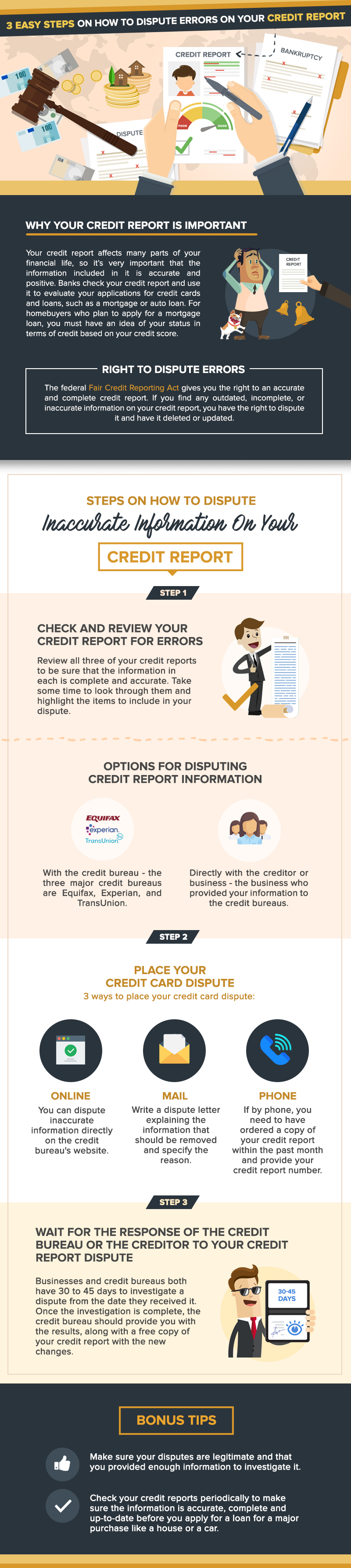 3 Easy Steps On How To Dispute Errors On Your Credit Report