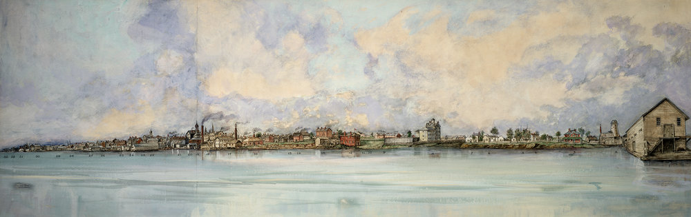 View from Toronto Harbour 1851 Painting .jpg