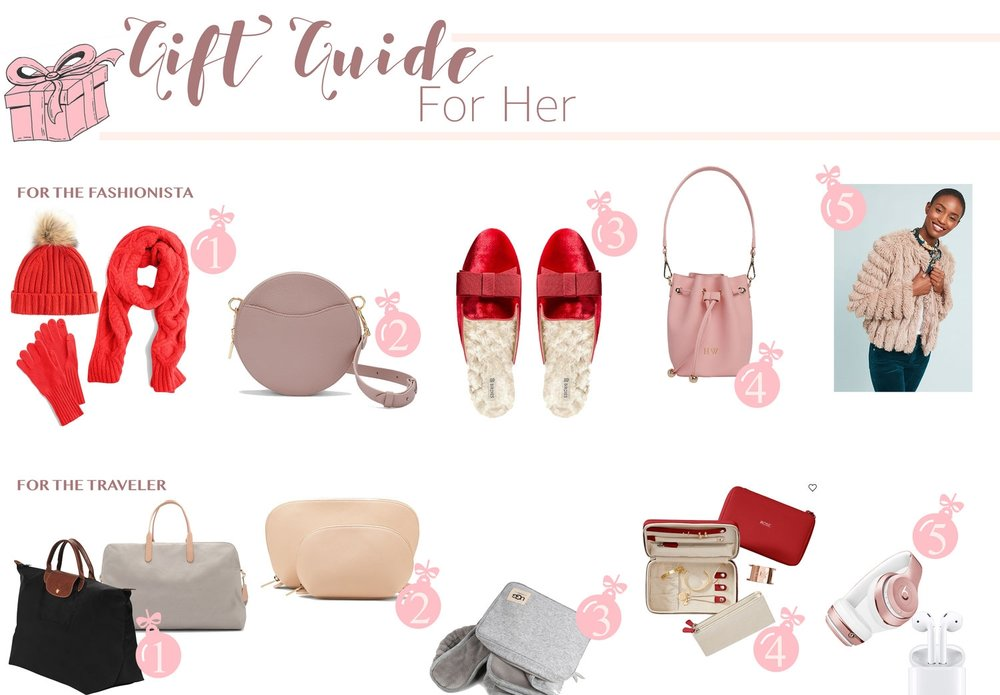 Gift Guide: For Her - The ultimate Gift Guide for all the women in your life including the fashionista, beauty lover, traveler and mom!