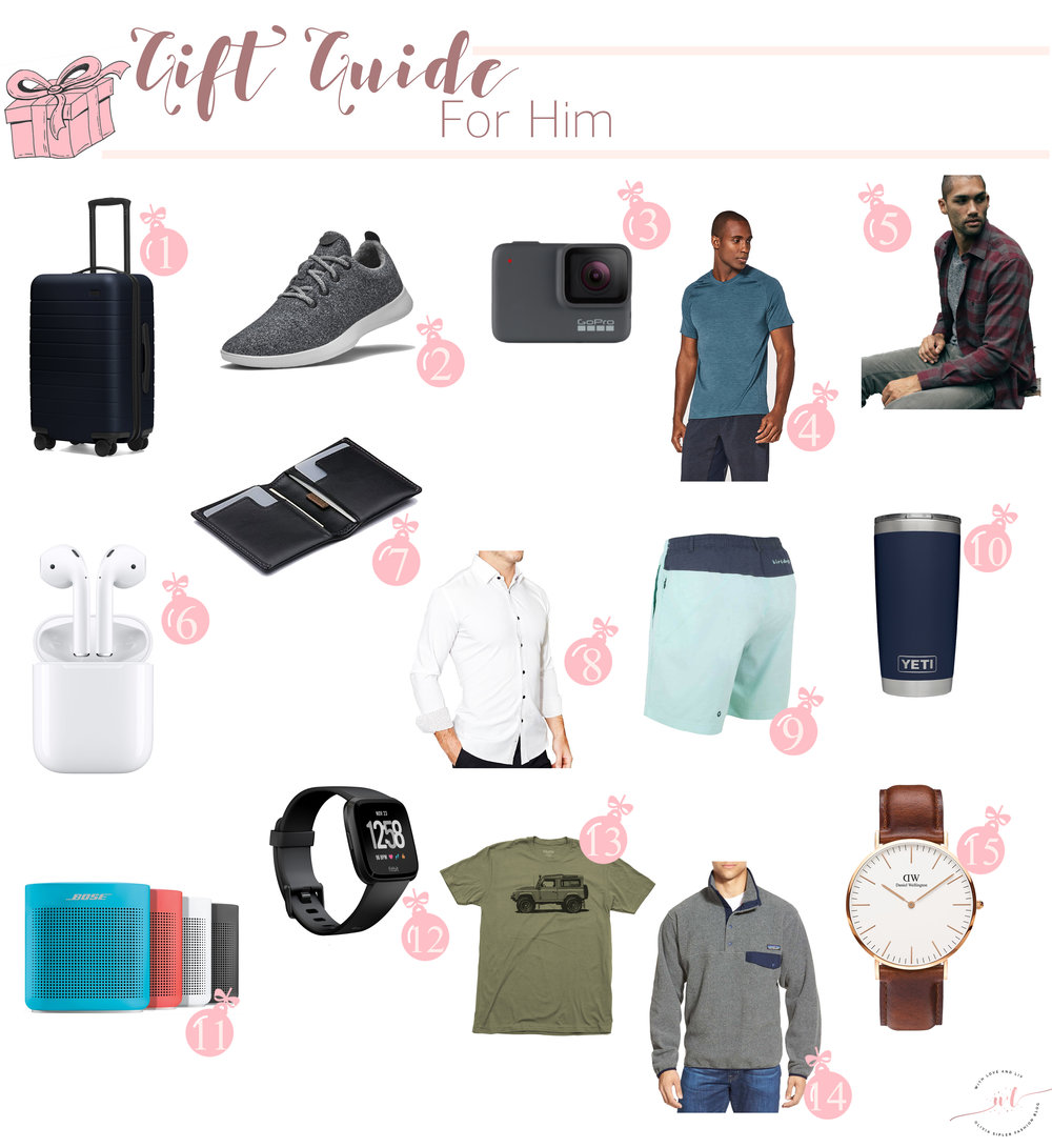 Gift Guide for Him - With Love and Liv