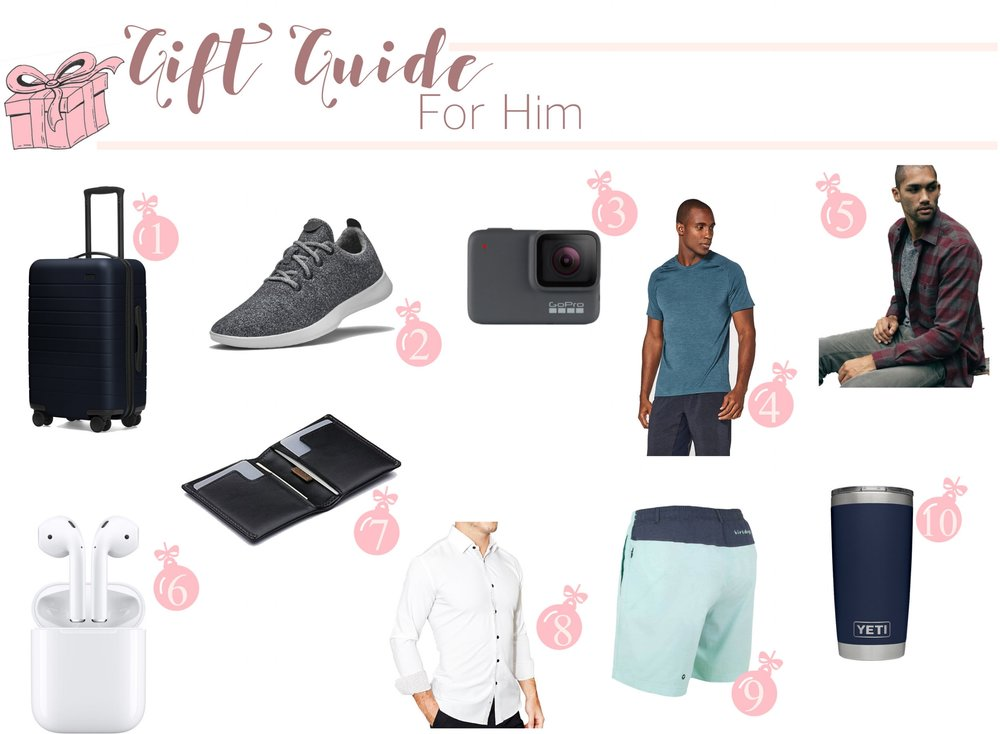 Gift Guide: For him - My last Gift Guide rounds up some of the best gifts for the guys in your life! Dad, brother, boyfriend, cousin, friend, whoever!