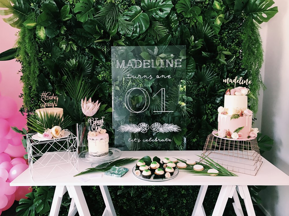 That Tropical Wall Had Everyone Crushing Over Was From The Flower NZ Accompanied With Gorge Perspex Custom Made Signage By Lovely Monique