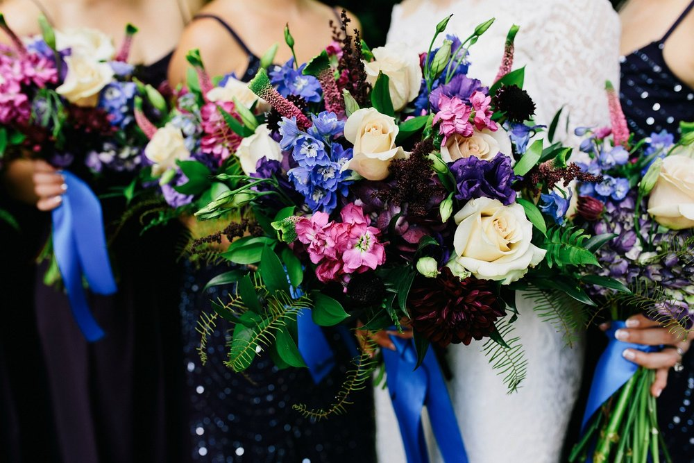 Bright & Vibrant Purple & Blue Wedding Bouquet.jpg