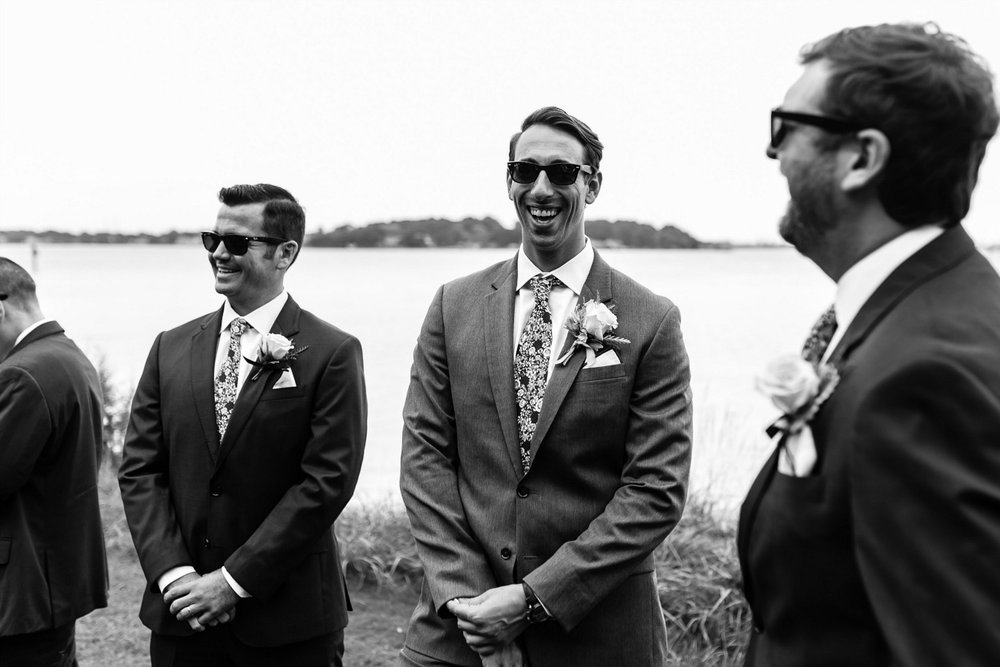 Classic Groomsmen on the water by The Black Tux