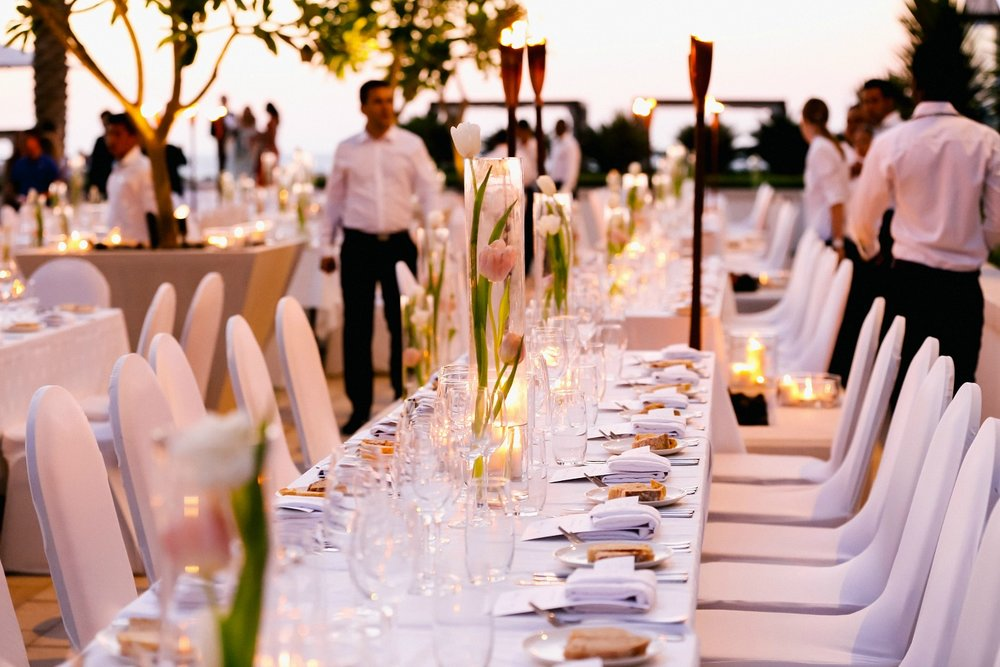 Yas Island Beach Club Wedding Reception