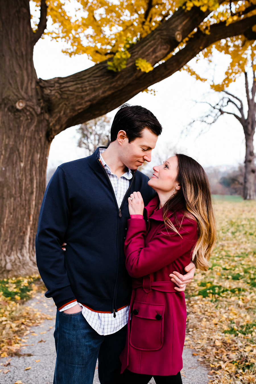 Fall Autumn Park Engagement Sessions in Baltimore Maryland