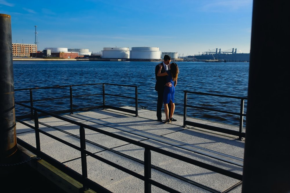 Where to have an engagement session in Charm City Baltimore Maryland