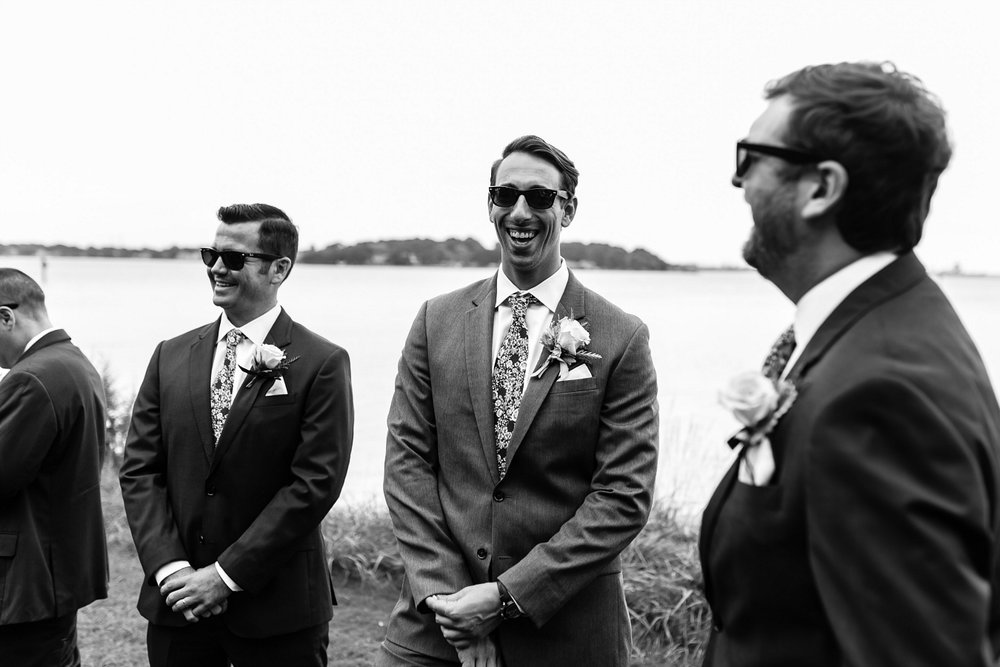 Classic Groomsmen in Suiting w/Floral Ties
