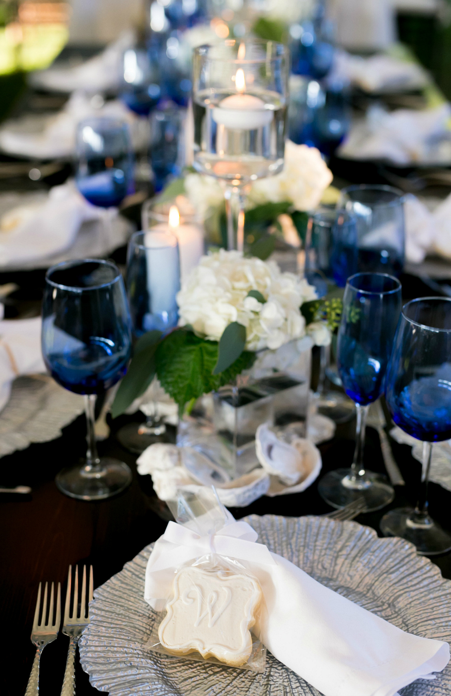 Cobalt Blue White + Silver Wedding Palette Inspiration Planning