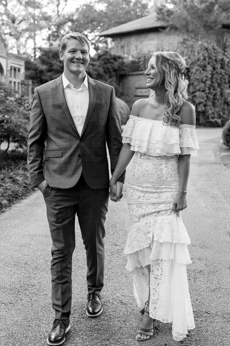 Off the Shoulder Wedding Dress Look