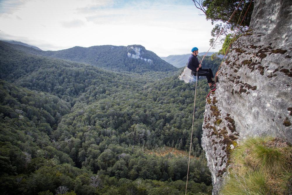 Rock climbing David Fenton