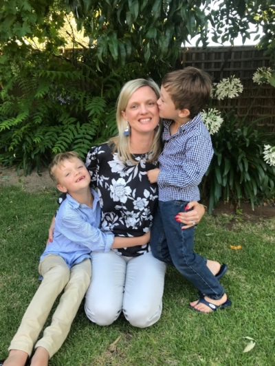 Celebrating our Vital Mum ~ Karen with her boys, Max (8) and Angus (6).